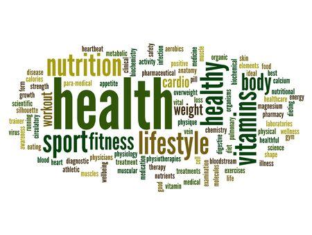 健康の概念単語雲背景 写真素材