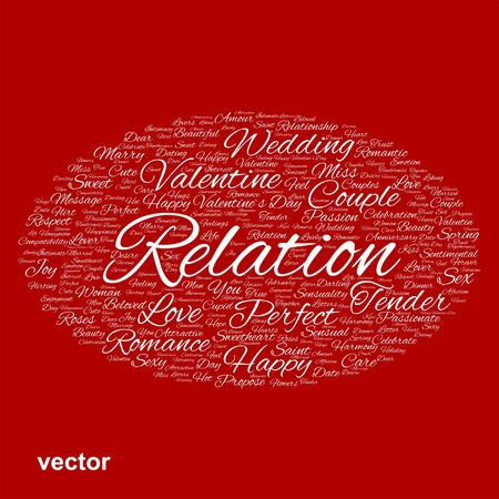 liking: Conceptual Love, Valentine or valentine`s Day, wedding word cloud
