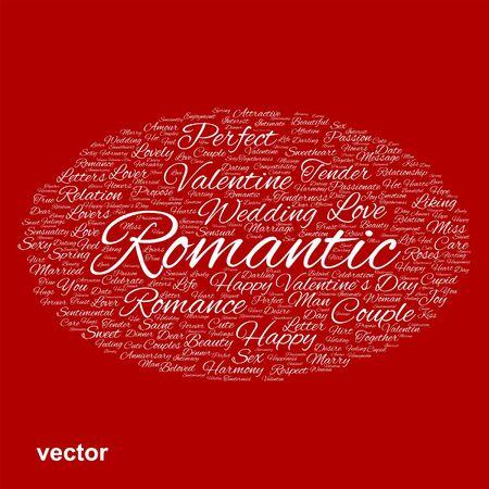 Conceptual Love, Valentine or valentine`s Day, wedding word cloud