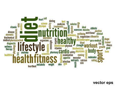 consonance: conceptual health word cloud concept Illustration