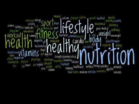 健康の概念単語雲概念 写真素材