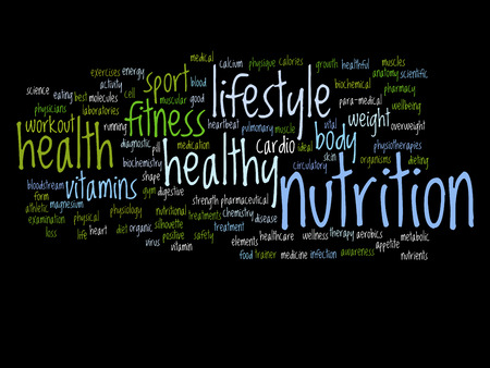 Conceptual health word cloud concept