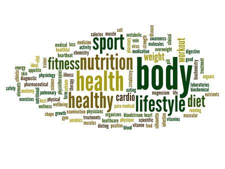 コンセプトや健康、栄養、ダイエット、健康、体、エネルギー、医療、フィットネス、医療、ジム、医学、スポーツ、心や科学のための隠喩として