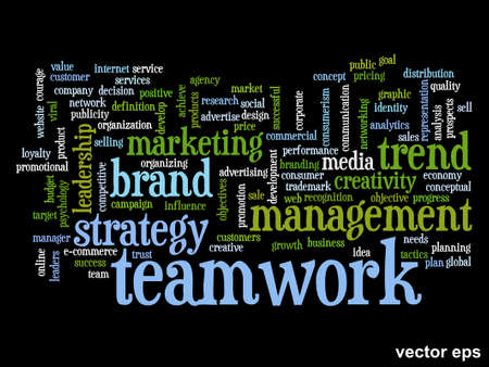 market value: Concept or conceptual abstract word cloud on white background as metaphor for business, trend, media, focus, market, value, product, advertising or customer. Also for corporate wordcloud Illustration