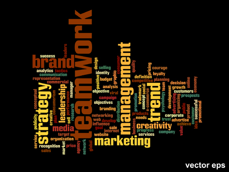 business word: Conceptual business word cloud background Illustration