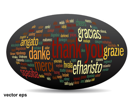 Conceptual thank you word cloud isolated for business or Thanksgiving Day Banco de Imagens - 45002754