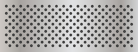 perforation texture: Gray metal steel or aluminum abstract texture background banner