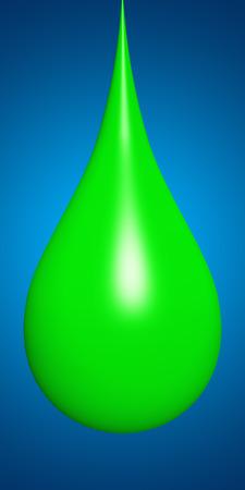 paint drop: Concept or conceptual abstract liquid color paint drop falling, blue gradient background Stock Photo