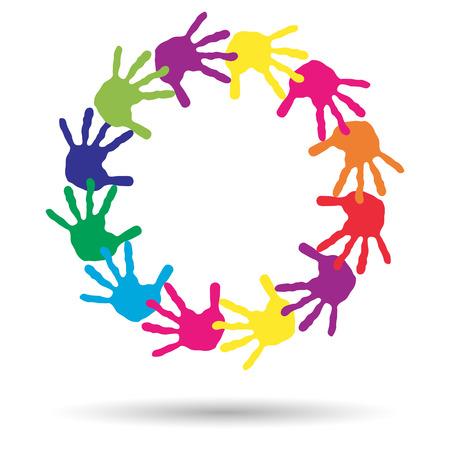 amistad: Concepto o niños conceptuales impresión pintada a mano aislado sobre fondo blanco