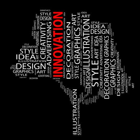 Conceptual art design tree word cloud background Foto de archivo