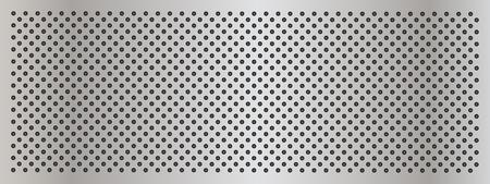 灰色の金属鋼またはアルミニウム抽象的なテクスチャ背景バナー 写真素材