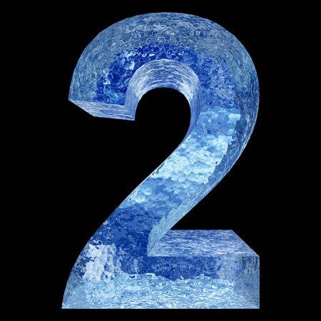 resfriado: Conceptual 3D del agua o de la fuente de hielo parte azul del conjunto o una colecci�n aislados sobre fondo negro para el invierno