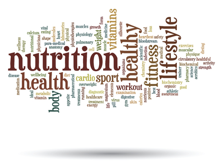 Conceptual health or diet word cloud concept isolated on background