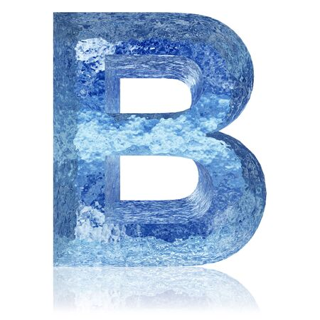 blue water: Blue ice or water fonts isoalted on white background