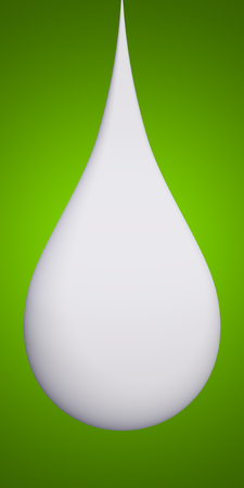 paint drop: Concept or conceptual abstract liquid color paint drop falling, green gradient background
