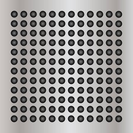 speaker grille pattern: Gray metal steel or aluminum abstract texture background Stock Photo