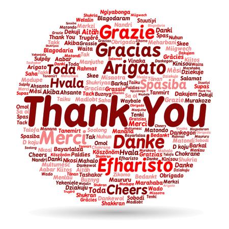 벡터 개념적 감사 단어 구름 비즈니스 또는 추수 감사절에 대 한 격리 스톡 콘텐츠 - 51327523