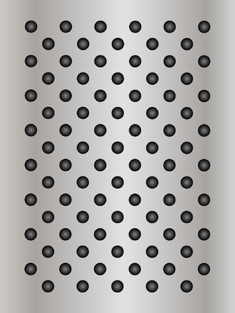 perforation: Vector concept conceptual gray metal stainless steel aluminum perforated pattern texture mesh background