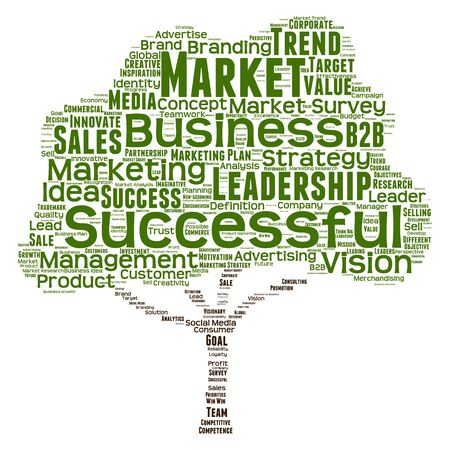 consumerism: Conceptual business leadership or media word cloud isolated on background