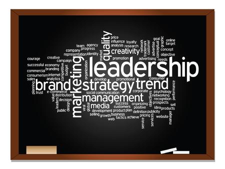 Vektor-Konzept oder konzeptionelle Business abstrakten Wortwolke auf Tafel und Kreide Hintergrund Standard-Bild - 51745657