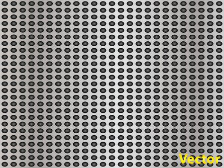 polished netting: Conceptual gray metal stainless steel aluminum perforated pattern texture mesh background