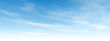 tranquility: Beautiful blue natural sky with white clouds paradise cloudscape background banner