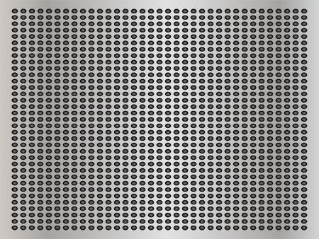 Vektor-Konzept konzeptionell grau Metall Edelstahl Aluminium perforiert Muster Textur Mesh Hintergrund