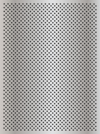 aluminum: Vector concept conceptual gray metal stainless steel aluminum perforated pattern texture mesh background