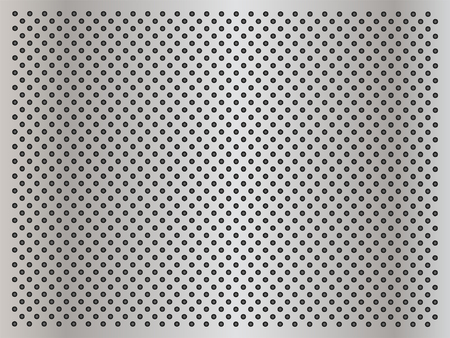 gray netting: Vector concept conceptual gray metal stainless steel aluminum perforated pattern texture mesh background
