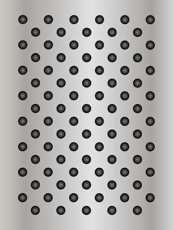 perforation texture: Gray metal steel or aluminum abstract texture background Stock Photo