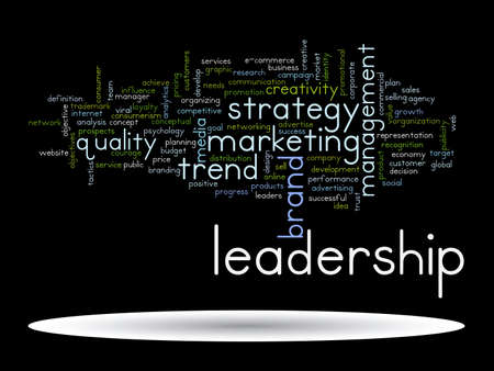 Conceptual abstract word cloud on black background as metaphor for business, trend, media