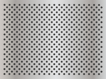 speaker grille pattern: Vector concept conceptual gray metal stainless steel aluminum perforated pattern texture mesh background