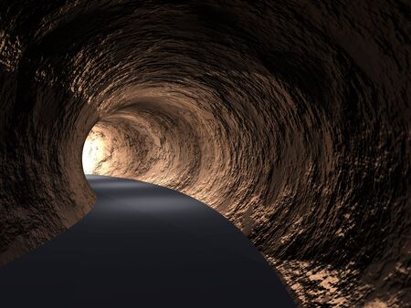 tunnel vision: Conceptual dark abstract road tunnel with bright light at the end background Stock Photo