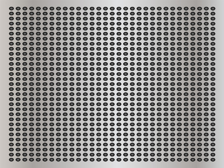 perforated: Vector concept conceptual gray metal stainless steel aluminum perforated pattern texture mesh background