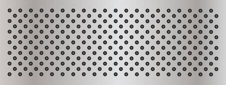 speaker grille pattern: Vector concept conceptual gray metal stainless steel aluminum perforated pattern texture mesh background banner