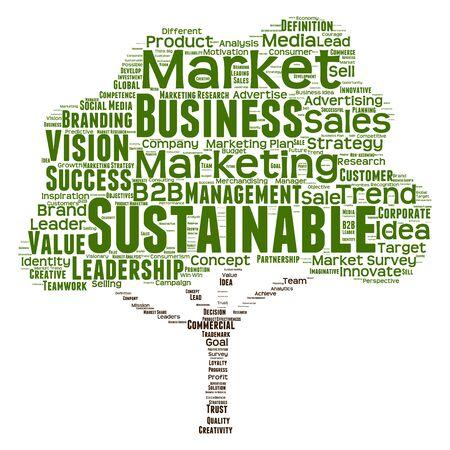 概念的なビジネスの指導者やメディア単語雲の背景に分離 写真素材