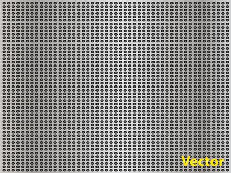 aluminum: Vector gray metal steel or aluminum texture background Illustration
