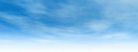Beautiful blue natural sky with white clouds paradise cloudscape background banner