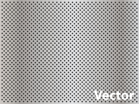 steel grille: Vector concept conceptual gray metal stainless steel aluminum perforated pattern texture mesh background