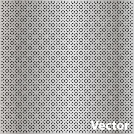 Vector begrifflich grau Metall Edelstahl Aluminium-Lochmuster Textur Mesh Hintergrund