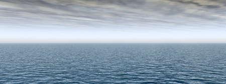 概念の海や海の水の波や空 cloudscape エキゾチックな楽園背景バナー