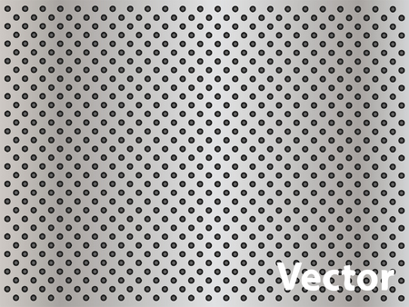 perforation texture: Vector concept conceptual gray metal stainless steel aluminum perforated pattern texture mesh background