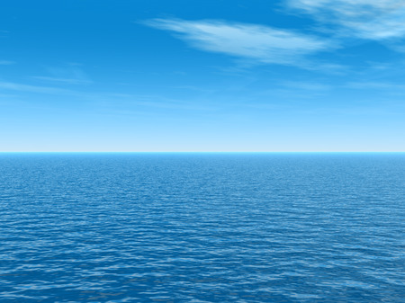 ocean water: Conceptual sea or ocean water waves and sky cloudscape exotic or paradise background