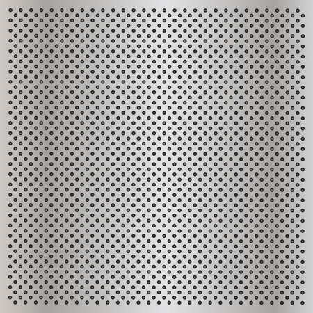grille: Vector concept conceptual gray metal stainless steel aluminum perforated pattern texture mesh background