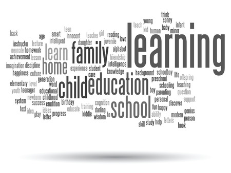 word: Vector conceptual education word cloud concept isolated on background