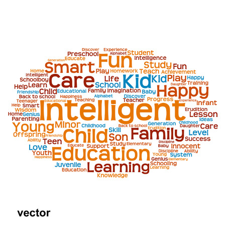 school strategy: Vector conceptual education word cloud concept isolated on background
