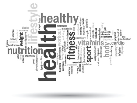 calories: Vector conceptual health or diet word cloud concept isolated on background Illustration