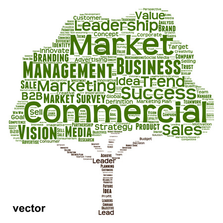 Vector conceptual business leadership or media word cloud isolated on background