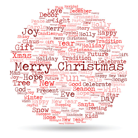 Conceptual Merry Christmas Holiday Or Happy New Year Winter Word    Conceptual Merry Christmas Holiday Or Happy New Year Winter  Word Cloud On White Background