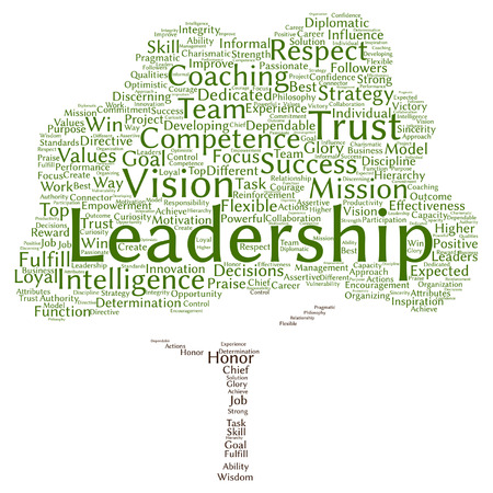 competence: Vector concept or conceptual business leadership or management tree word cloud isolated on background metaphor to strategy, success, achievement, responsibility, authority, intelligence or competence